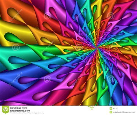 Colorful Teardrop Spiral   Fractal Image Stock ...