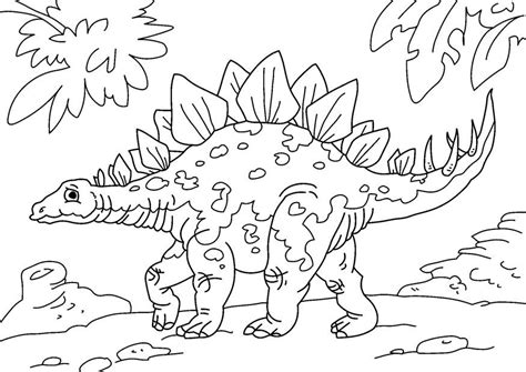 Coloriage dinosaure   stegosaurus   img 27626