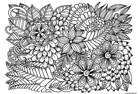 Coloriage Doodle Fleurs En Noir Et Blanc Motif Floral ...