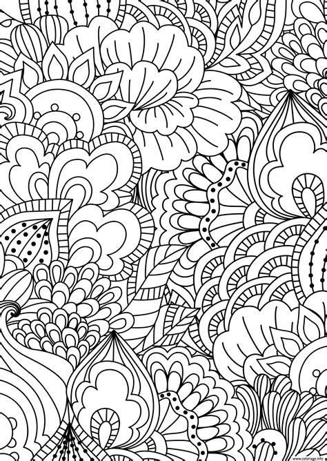 Coloriage fleurs adulte pattern zentangle   JeColorie.com