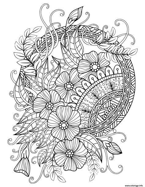 Coloriage mandala adulte florale nature 2020   JeColorie.com