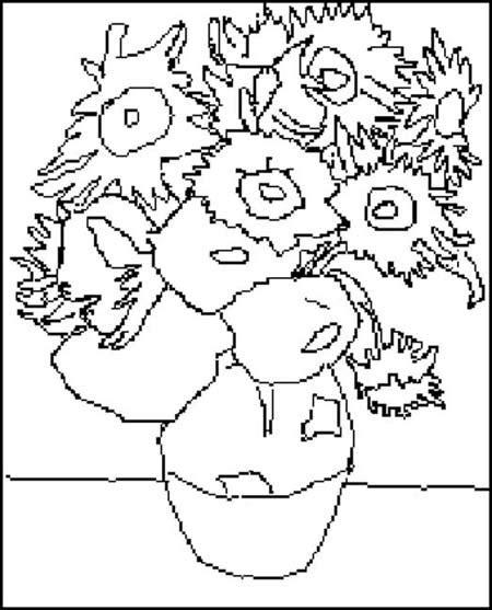 Coloriage Van Gogh  2    Momes.net