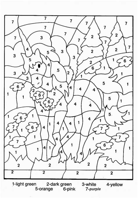 coloring pages with numbers image Cool | Pintar por número ...