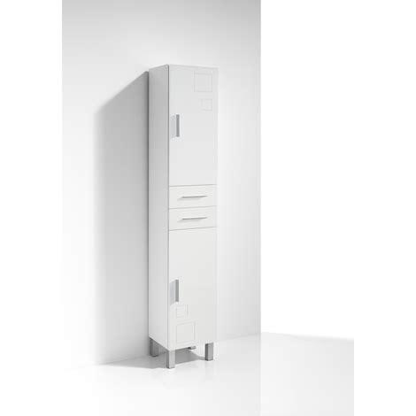 Columna de Baño CLAUDIA 30 cm, 2 puertas, color blanco ...