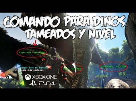 COMANDO PARA SPAWNEAR DINOS TAMEADOS Y NIVEL!!!   ARK ...