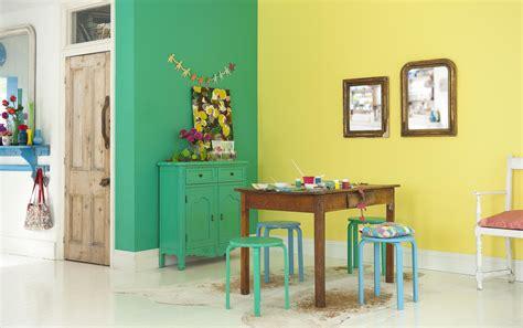 Combinación verde y amarillo colores para ambiente ...