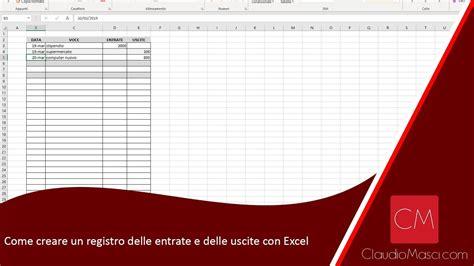 Come creare un registro delle entrate e delle uscite con ...
