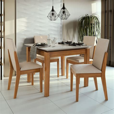 Comedor Amberes 4 sillas – Home Mobili