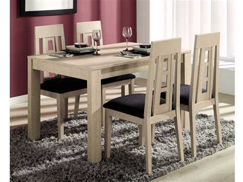 Comedor con mesa y sillas de diseño, modelo extensible con ...
