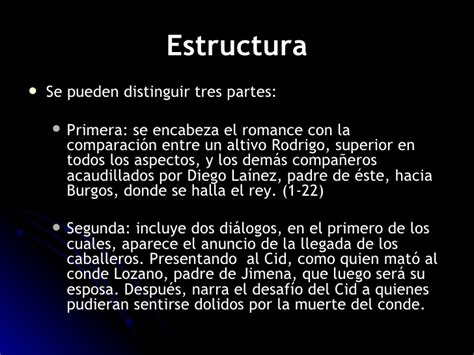 Comentario  Romance de Diego Laínez y Rodrigo ante el rey