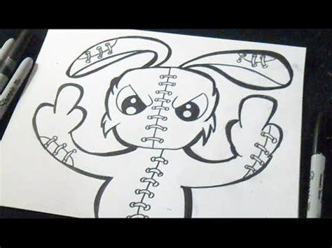 comment dessiner un lapin Graffiti   YouTube