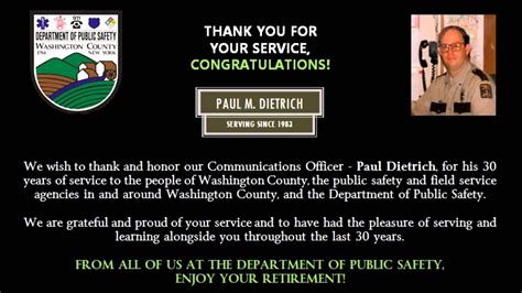 Communications Officer Paul M. Dietrich, final sign off ...