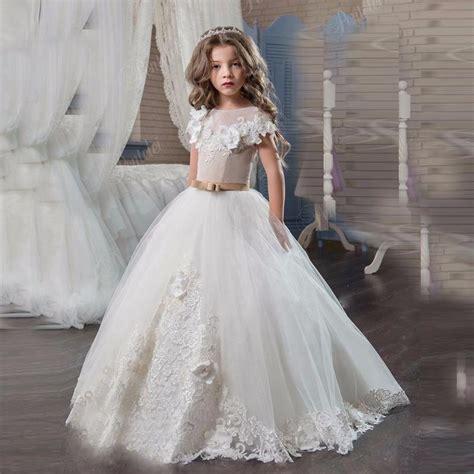 Communie Kleding Ball Gown Flower Girl Dresses With ...