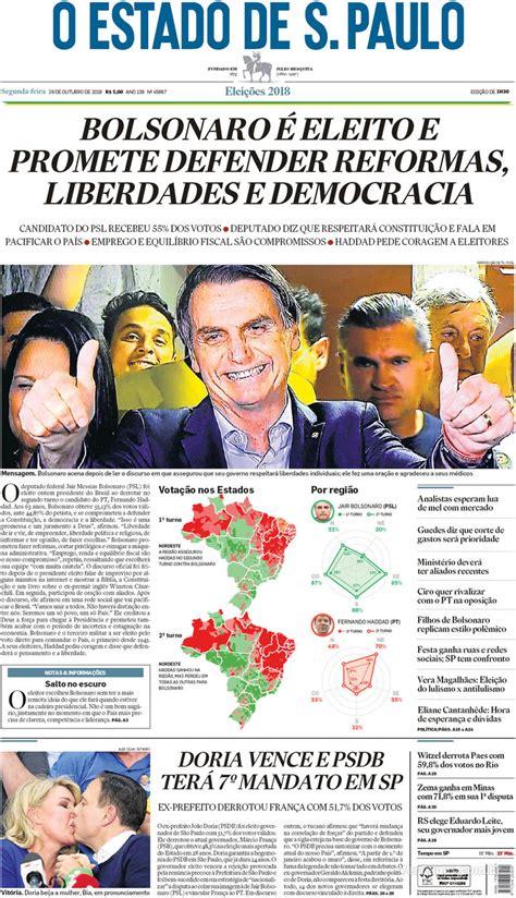 Como a imprensa registra a vitória de Bolsonaro