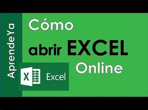 Como abrir excel Online desde Hotmail   Curso Excel ...