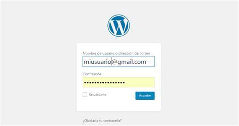 Cómo acceder a la administración de WordPress iniciando ...