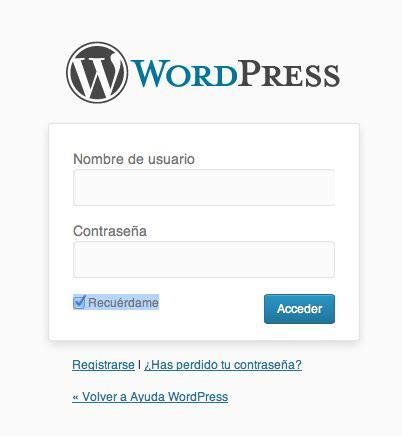 Como acceder a la administración de WordPress • Ayuda ...
