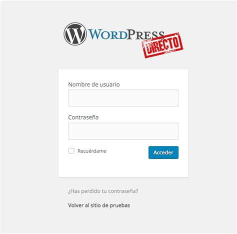 Como acceder a la administración de WordPress   WordPress ...
