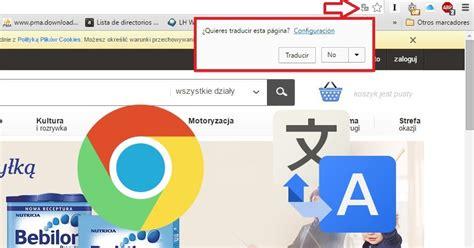 Como activar o desactivar la traducción de sitios Web en ...