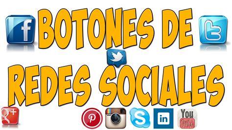 COMO AGREGAR BOTONES DE REDES SOCIALES HTML   ICONOS ...