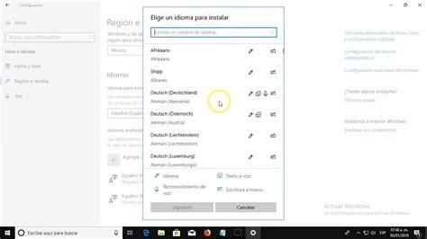 Cómo agregar o quitar paquetes de idioma en Windows 10 ...