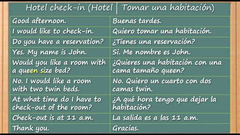 Como aprender ingles Hotel check in   YouTube