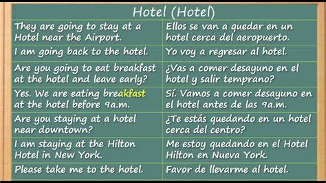 Como Aprender Inglés rapido y facil   El Hotel   Learn ...
