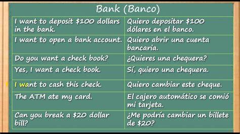 Como Aprender Inglés rapido y facil en el Banco | Learn ...