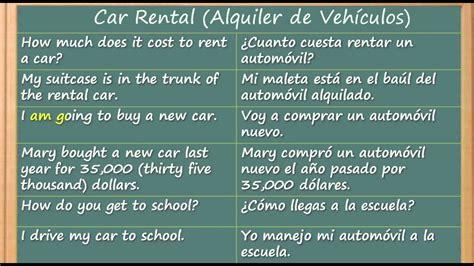 Como Aprender Inglés Rápido y Fácil y Gratis   Car Rental ...