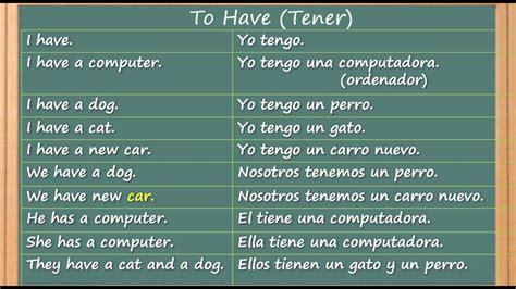 Como aprender inglés y el verbo  tener  en inglés hablado ...