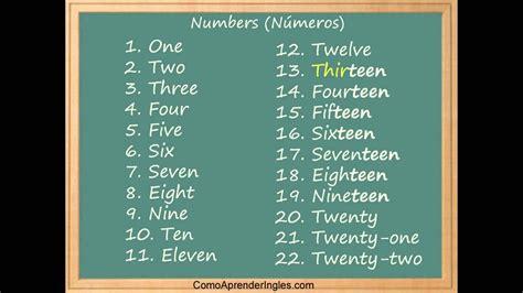 Como aprender los numeros en ingles rapido y facil ...