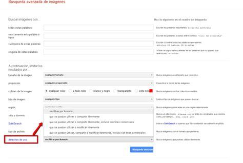 Cómo buscar en Google imágenes sin derechos de autor