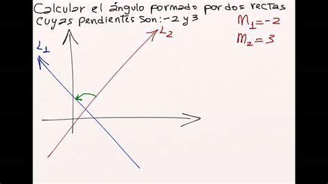 Como calcular ángulo entre dos rectas, geometría analítica ...