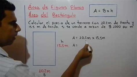 Cómo calcular el área de un rectángulo. Ejemplo 4   YouTube