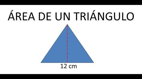 Como calcular el Área de un triangulo   Ejemplos   YouTube