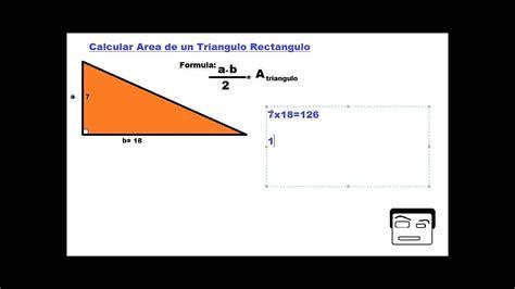 como calcular el area de un triangulo   YouTube