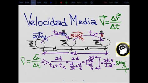 Como calcular la velocidad media en MRU, cinemática   YouTube