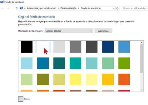 Cómo cambiar el color de fondo del Escritorio de Windows ...