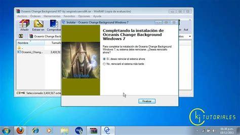 Como cambiar el fondo de pantalla de windows 7 starter ...