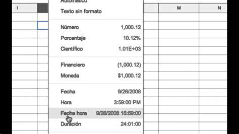 COMO CAMBIAR EL FORMATO DE UN NUMERO EN GOOGLE HOJAS DE ...