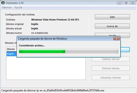 Como cambiar el idioma a Windows 7 Home con Vistalizator