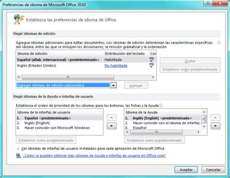 Cómo cambiar el idioma de Microsoft Office 2010