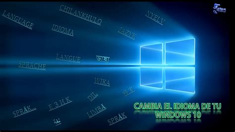 Como cambiar el idioma de nuestro sistema operativo ...