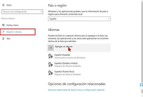 Cómo cambiar el idioma de Windows 10 a español   TecniComo