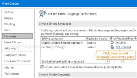 Cómo cambiar el idioma en Microsoft Office 2019/2016 ...