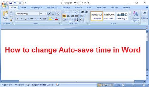Cómo cambiar el tiempo de auto guardado en Word