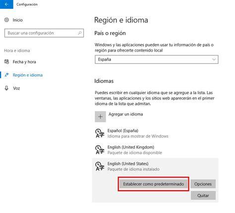 Cómo cambiar idioma de Windows 10   Saber Programas