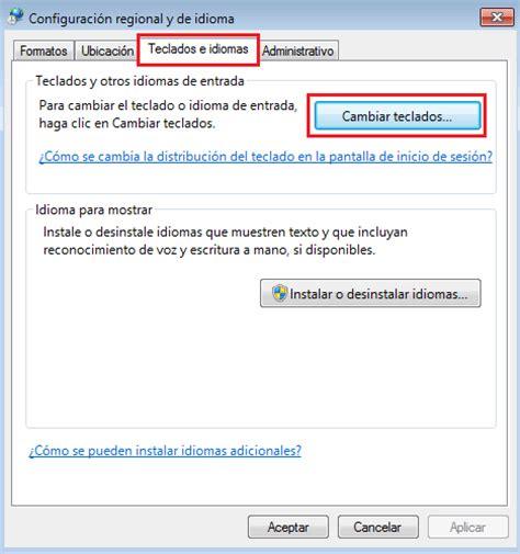 Como cambiar Idioma y la Configuración del Teclado Windows 7