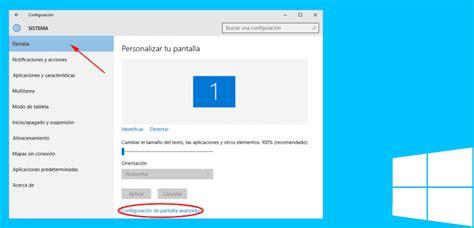 Cómo cambiar la resolución de pantalla en Windows 10