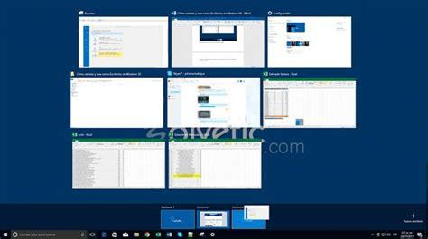 Cómo cambiar y usar varios Escritorios virtuales Windows ...